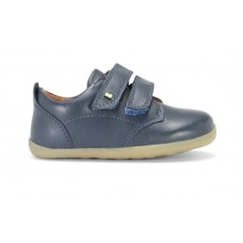 NAVY 2 STRAP CLOSED SHOE