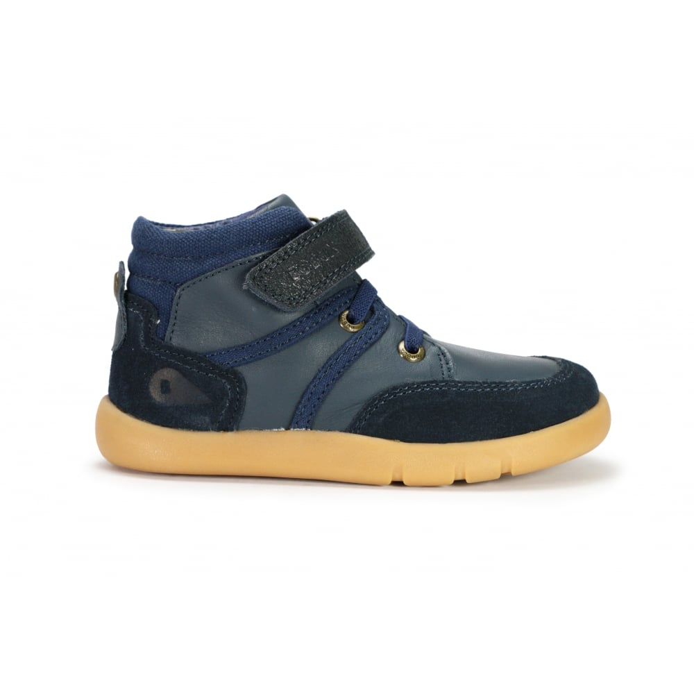 BOBUX SCOOT Navy leather boys ankle boot with velcro fastening - Boys from  Footloose UK e367b12652e6