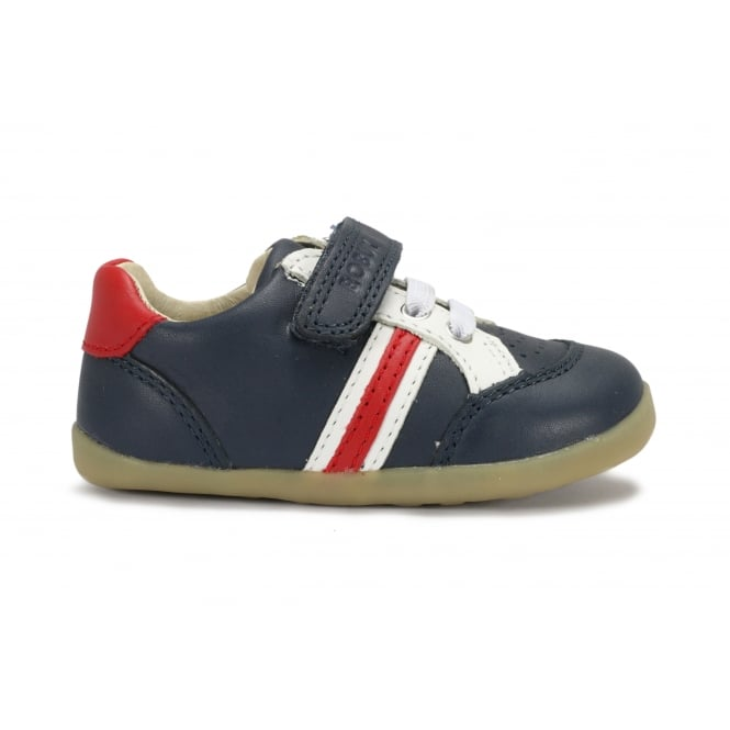 BOBUX TRACKSIDE Navy/Red/White Casual Sporty Looking Pre/First Walker