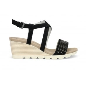 CAPRICE 28706-20-004 Suede High Wedge Sandal
