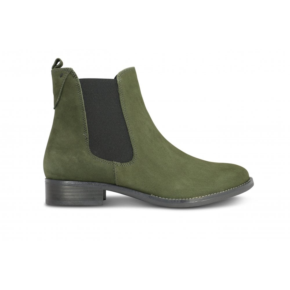 ed588b5e80b2d3 CAPRICE 9 25317 21 Olive Green Nubuck Ankle Boot - Ladies from ...