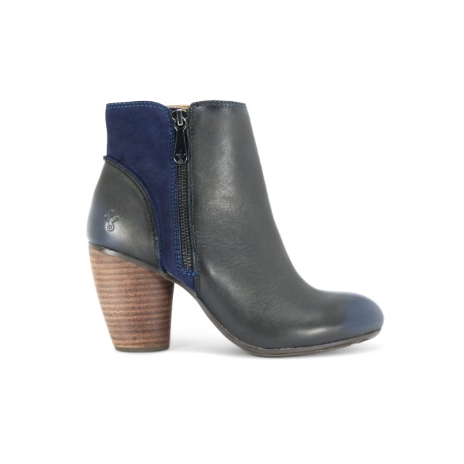 EMU BLUMONT Navy and Black Heeled Ankle Boot