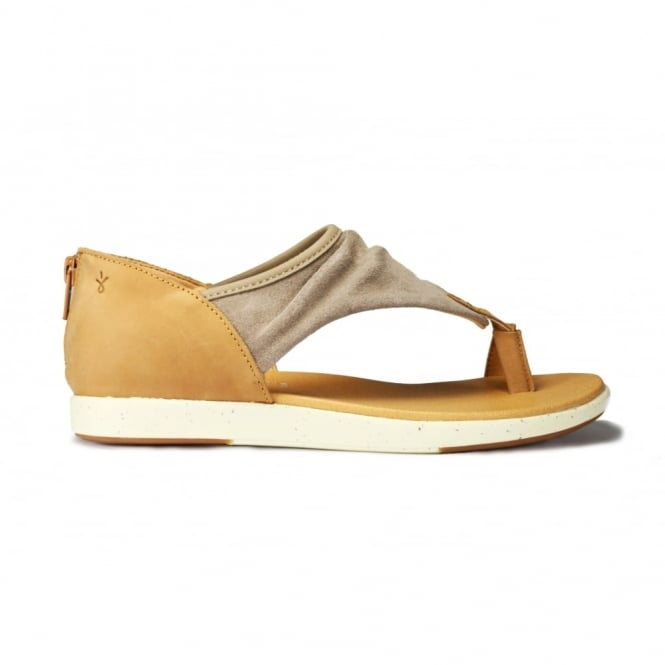 EMU YARRA mushroom suedeand leather toe wrap ladies sandal