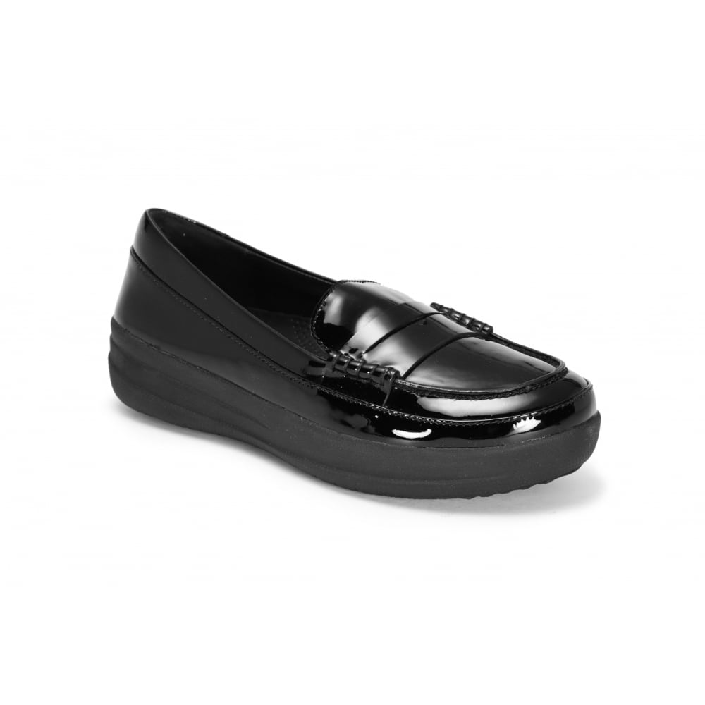 a5afcd6227b FITFLOP Black Patent Leather Loafer - Ladies from Footloose UK