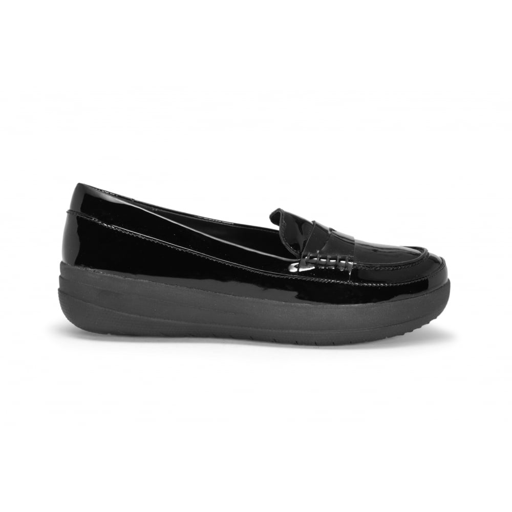 be89c3445 FITFLOP Black Patent Leather Loafer - Ladies from Footloose UK