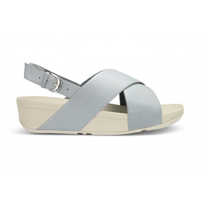 FITFLOP DOVE GREY CROSSOVER SANDAL
