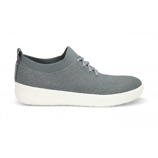 FITFLOP GREY MET LACE UP SNEAKER