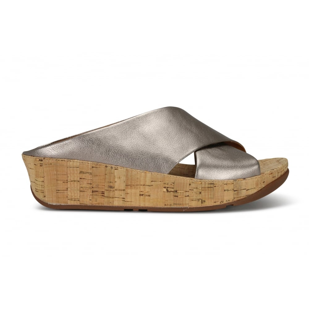 288e38bc13b92 FITFLOP KYS Bronze Leather Slide Sandal - Ladies from Footloose UK