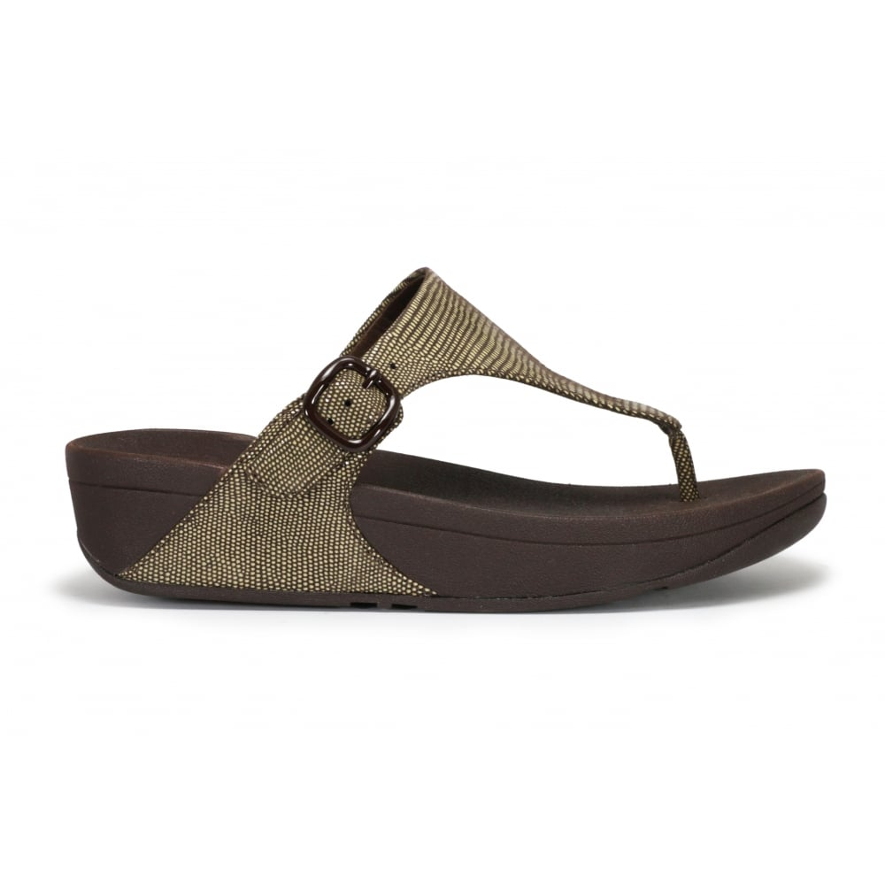 5f61ef2e7e8 FITFLOP THE SKINNY LIZARD-PRINT Toe Thong Fit Flop - Ladies from ...