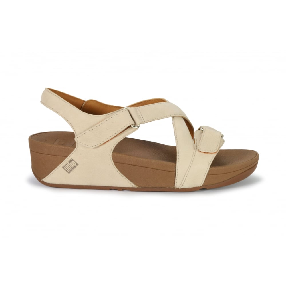 e5049be0011870 FITFLOP THE SKINNY SANDAL Beige Nubuck Velcro Sandal - Ladies from ...