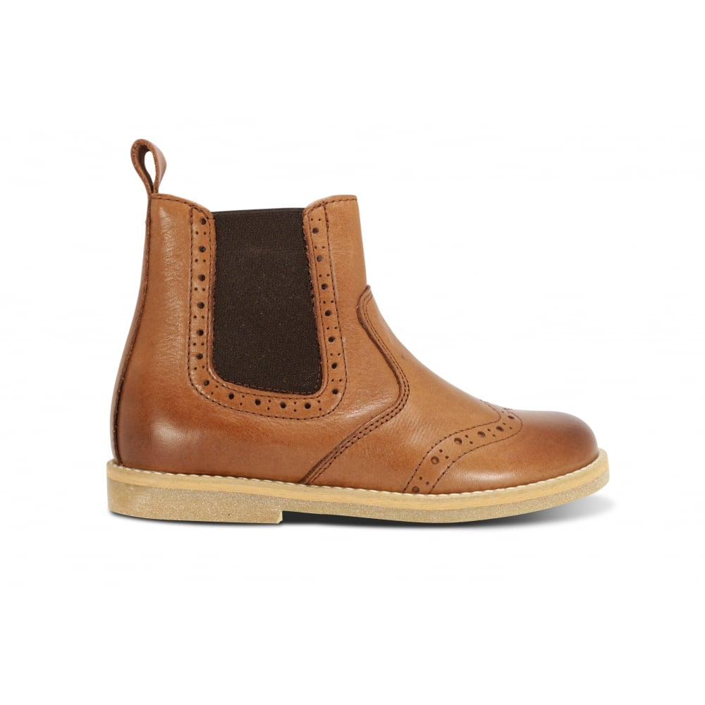 9d8747fa311 FRODDO G3160064-4 Brown Leather Brogue Chelsea Boot