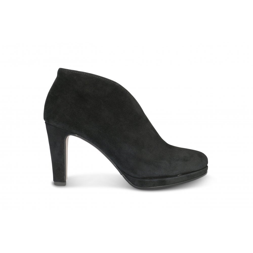 GABOR AMIEN Black Suede High Heeled Evening Shoe - Ladies from ... 20361219841