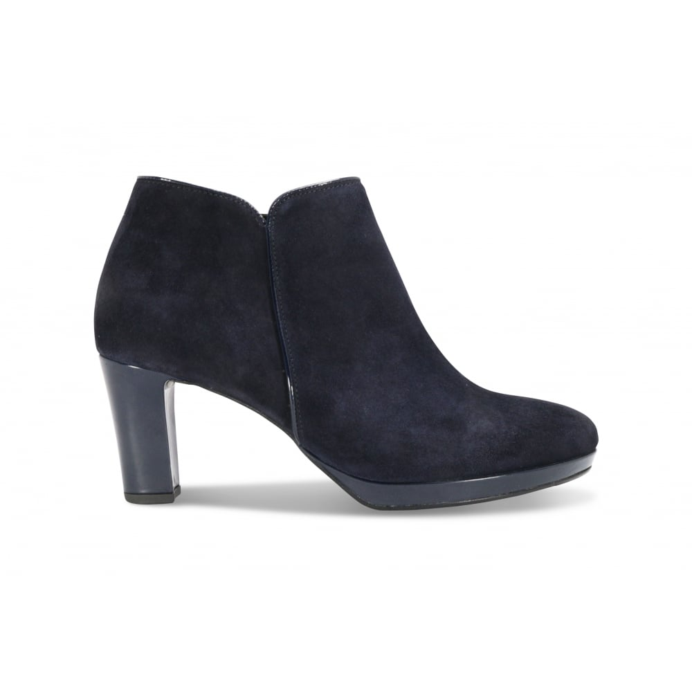 GABOR DANEHILL Navy Suede High Heeled Ankle Boot - Ladies from Footloose UK 5dc76ccfda6d