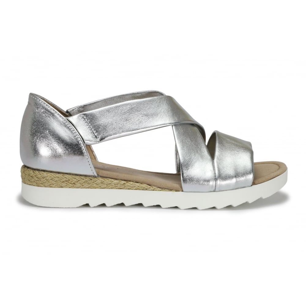 Front Promise Gabor Silver Sandal Cross XiuPZk