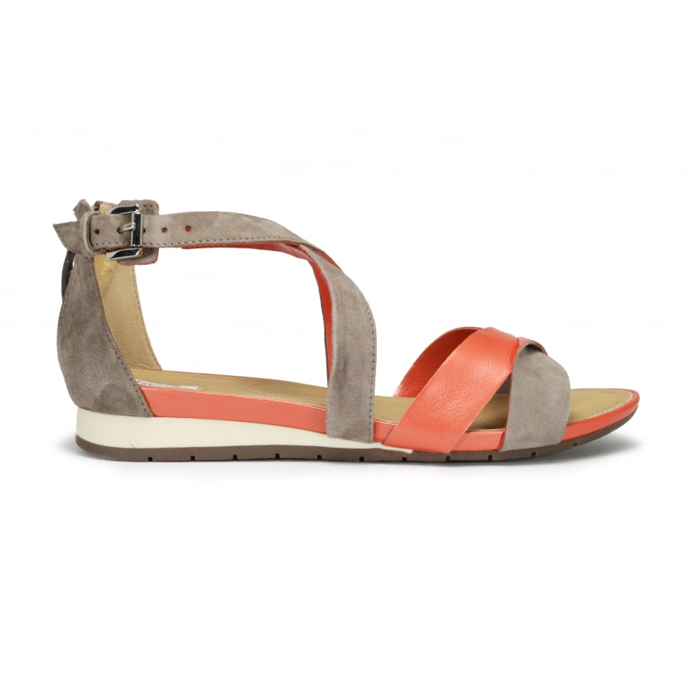 c02e633fb4bc3 GEOX D FORMOSA Orange Taupe Crossover sandal - Ladies from Footloose UK