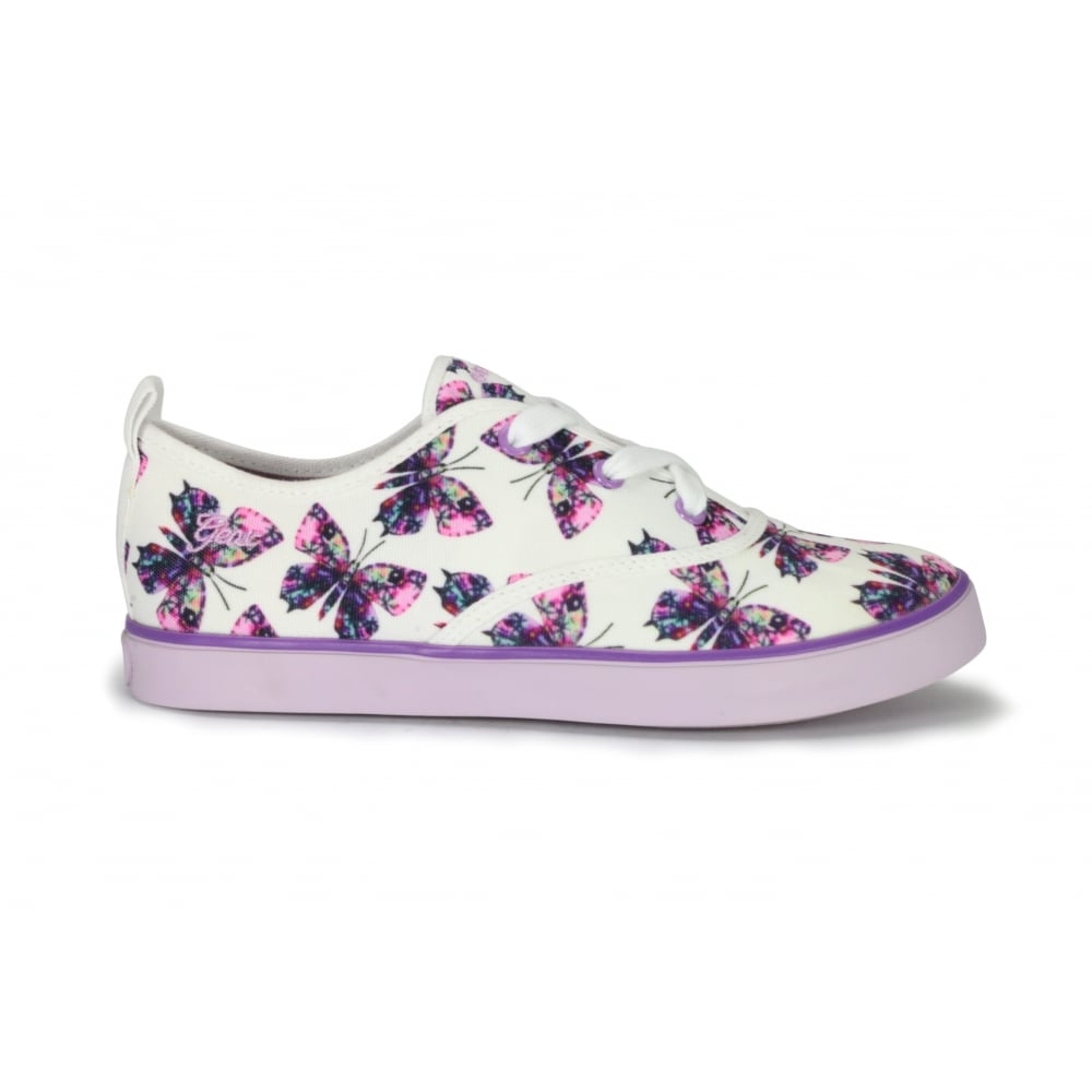GEOX J Ciak Lilac Butterfly Lace Up