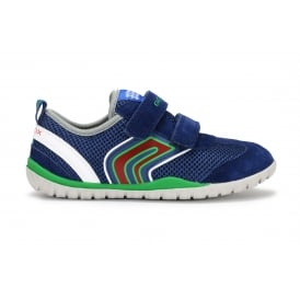 J TRIFON B Mesh and Suede Blue and Green Trainer