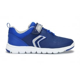 J XUNDAY B Navy and Royal Blue Mesh Velcro Trainer