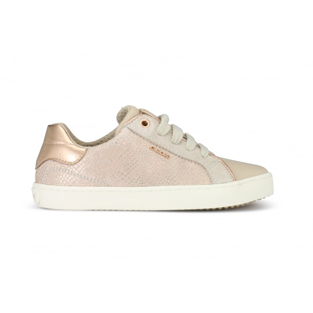 the best attitude b0ea3 8ca76 GEOX JR KILWI GIRL Skin/Rose Gold Lace Up Casual Shoe