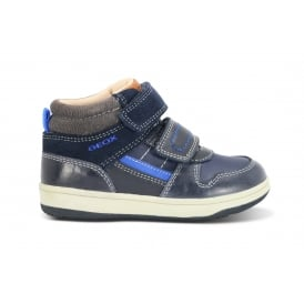 NEW FLICK Navy/Royal 2 Velcro Ankle Boot