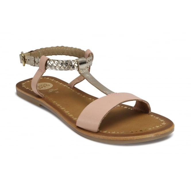 GIOSEPPO POLOX Pink and Gold Sandal