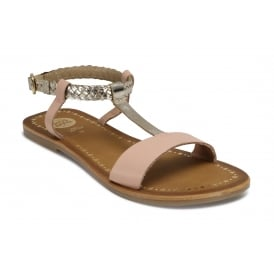 POLOX Pink and Gold Sandal