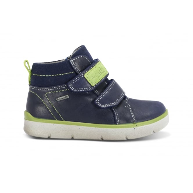 LEGERO SUPERFIT 00001-81 Navy Lime Leather Waterproof Ankle Boot
