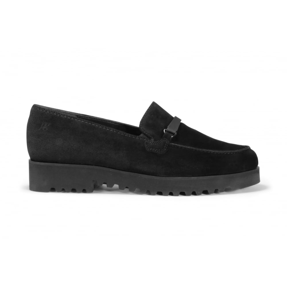 57fd0c68eb0 PAUL GREEN 1763-006 Black Suede Leather Creeper Style Ladies Loafer ...
