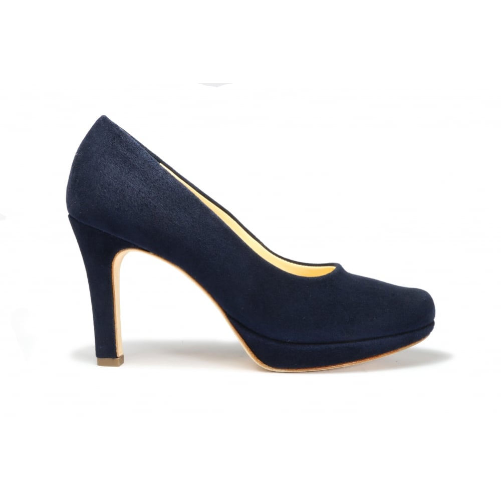 1294434a9f6 Paul green navy suede high heeled platform sole court shoe jpg 1000x1000 Navy  heels shoes