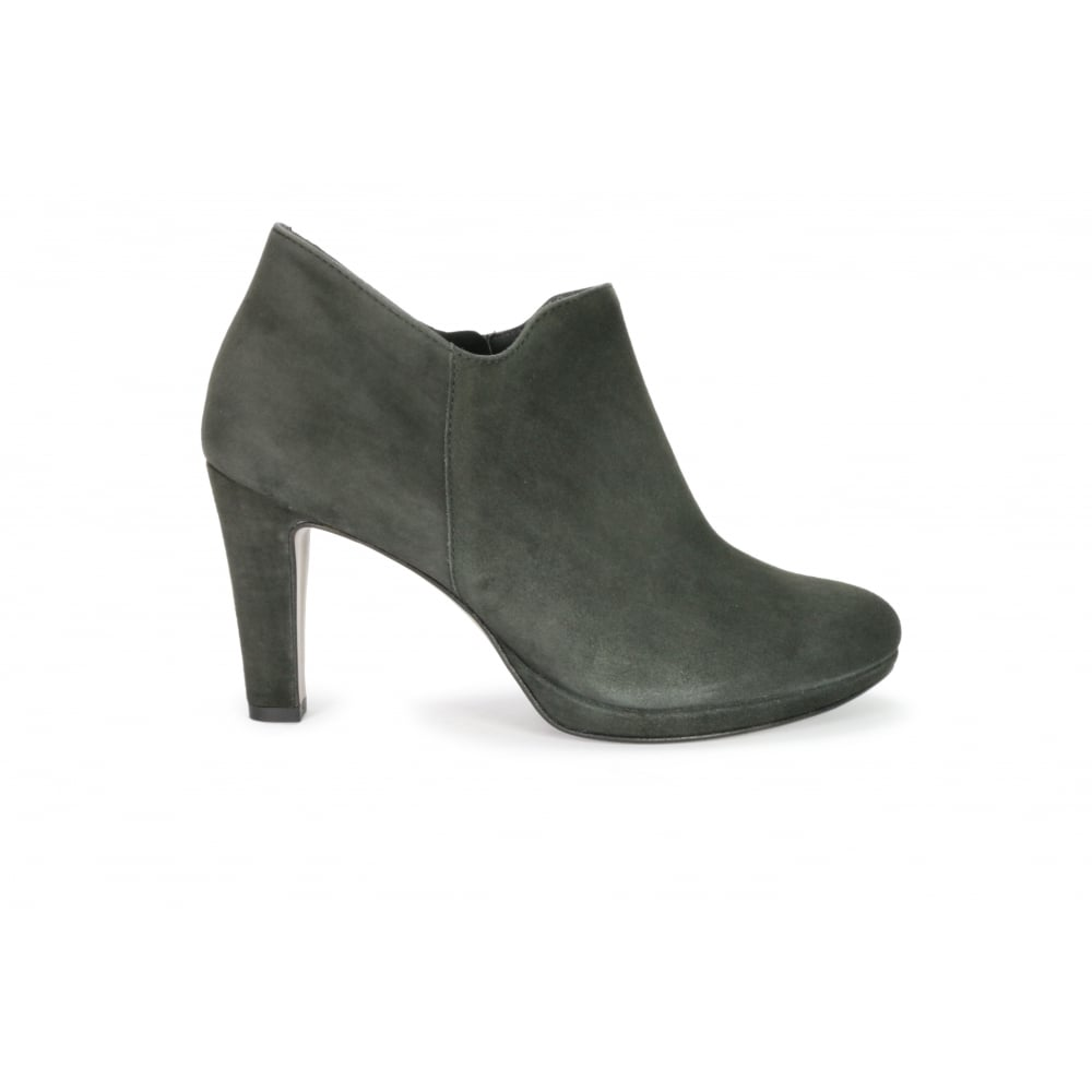 e21cc8b9714e0 PAUL GREEN 8651-056 Grey Suede Zip Fastening High Heeled Shoe Boot - Ladies  from Footloose UK