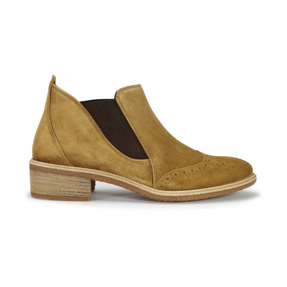 8964 Camel With Green Brogue Boot Chelsea Suede Coloured Paul 088 gUT1qR5wwx