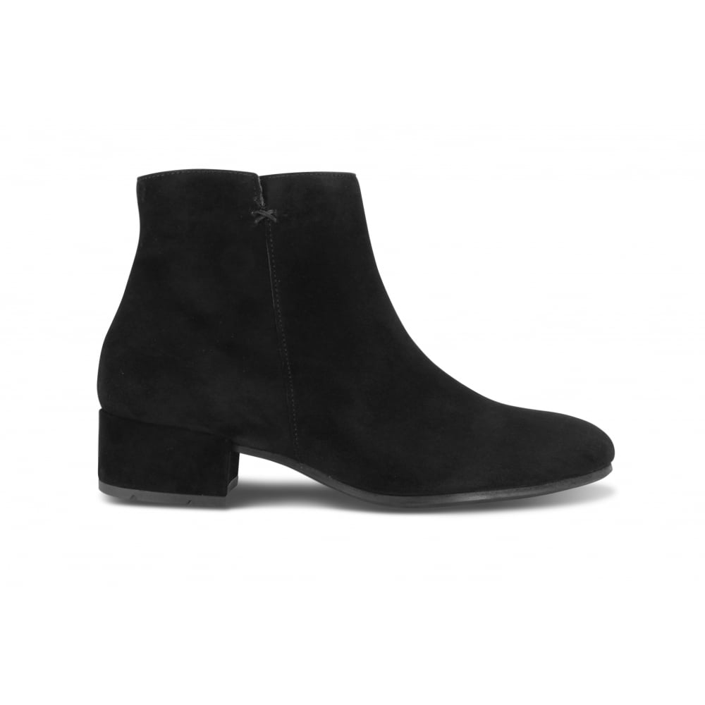 18bf173c1efe6 PAUL GREEN 9160-001 Black Suede Low Heel Ankle Boot - Ladies from Footloose  UK