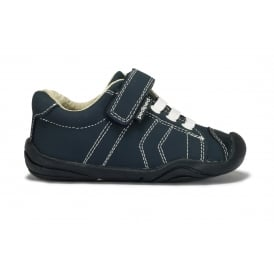 JAKE first walking shoe in navy leather