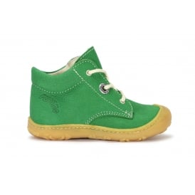 CORY Green or Orange Leather Lace Up Flexible Boot