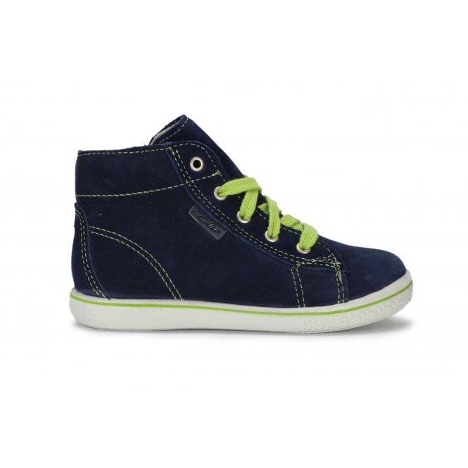 RICOSTA ZAYNI Navy Suede Lace Up Waterproof Ankle Boot