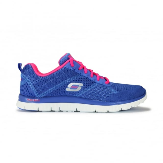 f135e2053223 SKECHERS OBVIOUS CHOICE Periwinkle Blue Fabric Lace Up Trainer ...