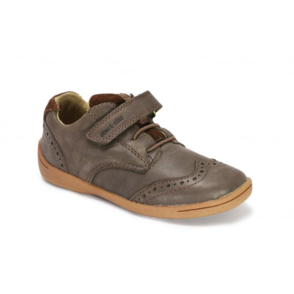 Start-Rite Childrens Toddlers Boys Super Soft Leather Hugo Brogue Shoes Brown