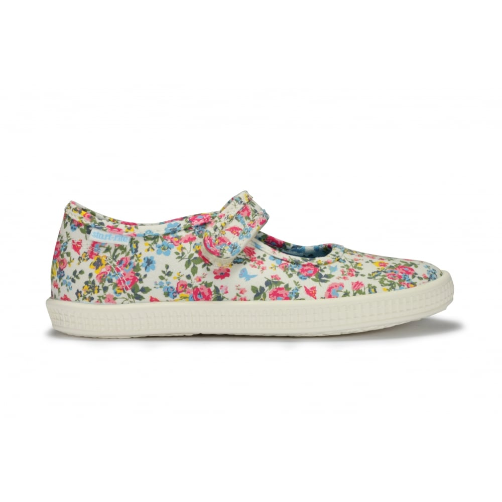 START-RITE POSY Floral Canvas Mary Jane