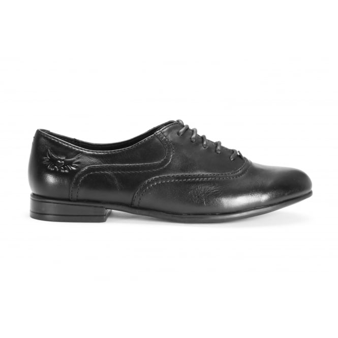 START-RITE RUNWAY Black Leather Lace Up School Shoe