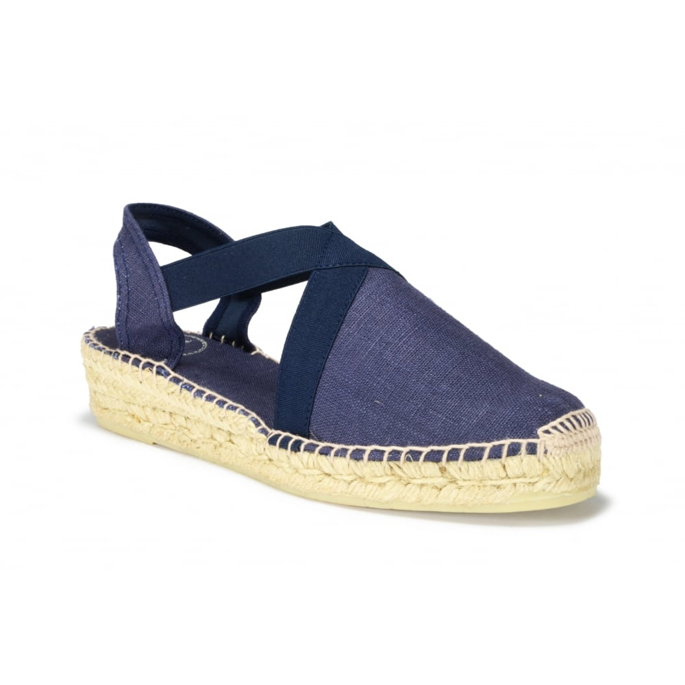 b559f8030ca TONI PONS VERONA Navy Linen Low Wedge Espadrille - Ladies from ...
